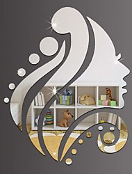 cheap -Decorative Wall Stickers - Mirror Wall Stickers Holiday Bedroom / Indoor