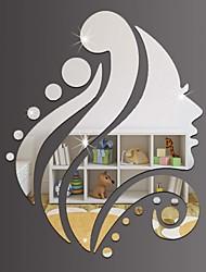 Недорогие -Декоративные наклейки на стены - Зеркальные стикеры Праздник Спальня / В помещении
