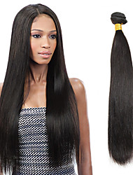 cheap -1 Bundle Indian Hair Straight Virgin Human Hair Natural Color Hair Weaves / Hair Bulk 8-26 inch Black Human Hair Weaves Human Hair Extensions / 10A
