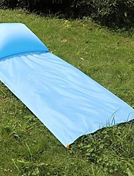 cheap -Air Pad Picnic Blanket Outdoor Camping Lightweight 100% Polyester 85*210 cm Fishing Camping / Hiking / Caving Traveling for 1 person Spring Summer Light Blue Sky Blue Royal Blue