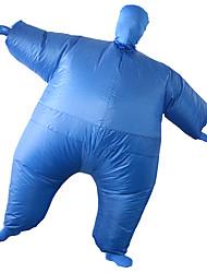 abordables -Lutteur Costume de Cosplay Costume Gonflable Adulte Homme Halloween Halloween Fête / Célébration Rayon / polyester Bleu Homme Femme Déguisement Carnaval / Collant / Combinaison / Manuel D'Utilisation
