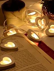 cheap -1.2m Heart String Lights 10 LEDs Warm White Valentine Romantic Decorative 5V 1set