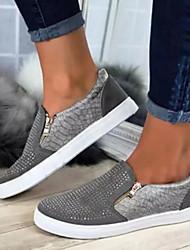 cheap -Women's Flats Flat Heel Round Toe PU(Polyurethane) Summer Black / White / Blue / Color Block