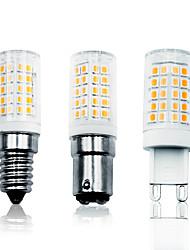cheap -LOENDE 5 Pack  6W LED Corn Lights LED Bi-pin Lights 700 lm E14 G9 BA15D T 64 LED Beads SMD 2835 Dimmable Warm White White 110-130 V 200-240 V