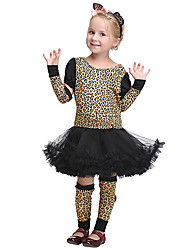 cheap -Animal Outfits Kid's Girls' Halloween Halloween Festival / Holiday Spandex Polyester / Polyamide Black Carnival Costumes