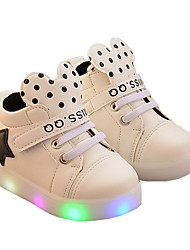 cheap -Boys' LED / LED Shoes PU Athletic Shoes Little Kids(4-7ys) Black / White / Pink Summer