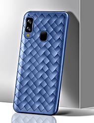 cheap -Ultra-thin Soft TPU Phone Case For Samsung Galaxy A70 A60 A50 A40 A30 A20 A10 Luxury Grid Weaving Case For A9 2018 A7 2018 A6 Plus 2018 A6 2018 Radiating Cover Silicone