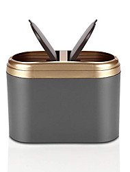 cheap -Car Trash Can With Lid Bin Gold And Silver Convenient For universal All years