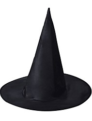 cheap -Witch Wizard Magic Harry Hat Witch Broom Boys' Hat Halloween Festival / Holiday Black Carnival Costumes Halloween