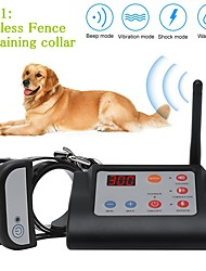 cheap -2 In 1 Wireless Electric Pet Dog Fence & Training Collar Dog Training Collars Waterproof Rechargeable Pet Containment System