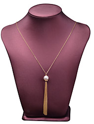 cheap -Women's Freshwater Pearl Pendant Necklace 14K Gold Gold 75 cm Necklace Jewelry 1pc For Gift