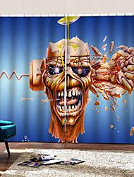abordables -personnalité originale rideaux pour chambre / salon halloween thème joyeux thème crâne et os croisés rideaux occultants sur mesure
