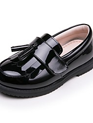 cheap -Girls' Flower Girl Shoes Patent Leather Loafers & Slip-Ons Little Kids(4-7ys) Black / Burgundy Summer