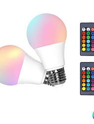 cheap -2pcs 3 W LED Smart Bulbs 300 lm E26 / E27 3 LED Beads SMD 5050 Smart Dimmable RGBW 85-265 V