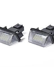 cheap -2pcs LED Integrated Car Light Bulbs 2.24 W LED License Plate Lights For Peugeot 2001 / 2002 / 2003