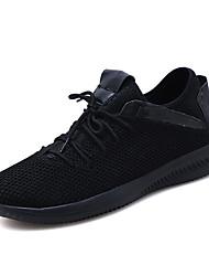 cheap -Men's Comfort Shoes Mesh Summer Athletic Shoes Walking Shoes Black