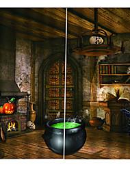 Недорогие -Роскошные уф-цифровая печать хэллоуин их занавес утолщение плотные шторы для спальни / гостиной / бар пользовательских занавес
