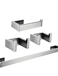 cheap -Robe Hook / Toilet Paper Holder / Towel Bar Creative / New Design Traditional / Contemporary Stainless Steel / Iron / Metal / Stainless Steel 4pcs - Bathroom Wall Mounted