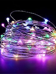 cheap -10M 100Leds USB powered Silver copper wire String Lights Christmas Garland Fairy Holiday Party Wedding Xmas Decoration Lights