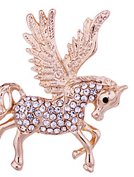 cheap -Men's Crystal Brooches Classic Horse Animal Luxury Classic Basic Rock Fashion Brooch Jewelry Gold Silver For Wedding Party Daily Work Club