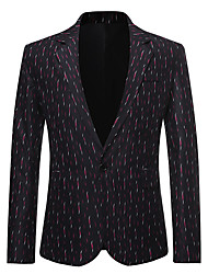 cheap -Tuxedos Tailored Fit / Standard Fit Notch Single Breasted One-button Cotton Blend / Cotton / Polyester Dot