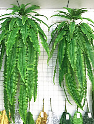 cheap -1Pc Simulation Green Plant Wall Hanging Big Persian Grass Persian Iron Tree Moss Plant Fake Mosaic Decoration Accessories Green Flowers And Plant 90cm
