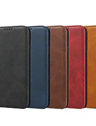 Недорогие -чехол для яблока iphone 11 / iphone 11 pro / iphone 11 pro max кошелек / держатель для карты / с подставкой для чехлов для тела сплошной цвет чехол из натуральной кожи