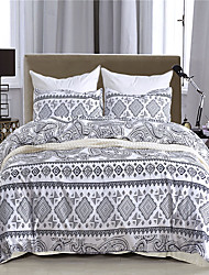 cheap -Duvet Cover Sets Damask / Geometric / Stripes / Ripples Polyester / Polyamide Printed 3 PieceBedding Sets