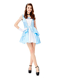 cheap -Princess Cosplay Costume Masquerade Adults' Women's Cosplay Halloween Halloween Festival / Holiday Tulle Satin Pale Blue Women's Carnival Costumes