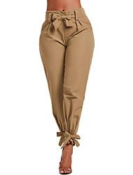 cheap -Women's Street chic Harem / Cargo Pants - Solid Colored High Waist Camel Army Green Khaki L XL XXL