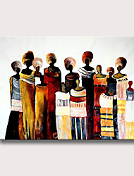 cheap -Oil Painting Hand Painted Abstract People Modern Rolled Canvas Rolled Without Frame