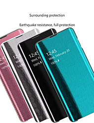 cheap -Case For Huawei Huawei Note 10 / Huawei P20 / Huawei P20 Pro/P30PRO/P30/20 with Stand / Mirror / Flip Full Body Cases Solid Colored / Lines / Waves PC