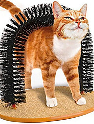 cheap -Cat Self Groomer, 2.0 Version Cat Arch Face Scratcher with Scratcher Pad, Cats Back Grooming Massager Toy Brush for Indoor Kitten and Small Dog