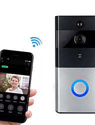 cheap -HH-D05 720P Smart Home Security Video Surveillance Wireless Wifi Remote Voice Intercom Telephone Video Smart Day / Night Vision 166° Wide-angle Live View Doorbell