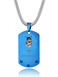 cheap -Personalized Customized German Shepherd Dog Dog Tags Classic Gift Daily 1pcs Blue Gold Silver