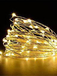 cheap -10m String Lights 100 LEDs Warm White White Red Creative Party Wedding USB Powered