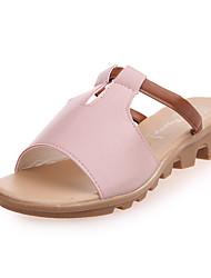 cheap -Women's Sandals Wedge Heel Open Toe PU Classic / Minimalism Summer Black / White / Blue