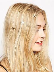 Недорогие -Жен. Украшения для волос Назначение Праздник совершеннолетия Для улицы Позолота Золотой 1