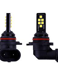 Недорогие -2 шт. 9006 hb4 9005 hb3 светодиодные лампы автомобиля противотуманные фары вождения высокой мощности 12smd 3030 светодиодные задние фонари свет автомобиля парковка 12 В авто 6000 К