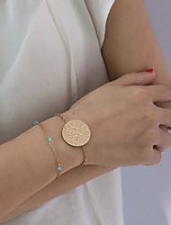 cheap -2pcs Women's Bracelet Classic Precious Classic Fashion Elegant Alloy Bracelet Jewelry Gold For Gift