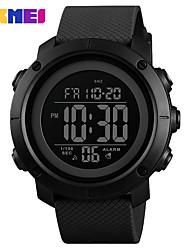 Недорогие -SKMEI Муж. электронные часы Цифровой силиконовый 30 m Защита от влаги Секундомер Новый дизайн Цифровой На открытом воздухе Мода - Черный Зеленый Черный / Белый