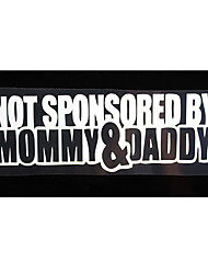 cheap -NOT SPONSORED BY Mommy&Daddy Unique Reflective Car Decals