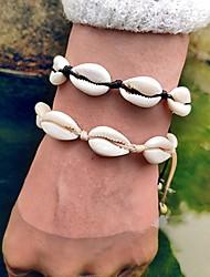 abordables -Loom Bracelet Femme Coquillage Puka Shell Tropical Bracelet Bijoux Noir Beige pour Mariage Cadeau Carnaval Sortie Bikini