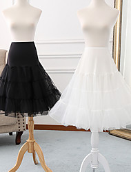 cheap -Ballet Classic Lolita 1950s Dress Petticoat Hoop Skirt Tutu Crinoline Women's Girls' Tulle Costume Black / Grey / White Vintage Cosplay Party Performance Princess