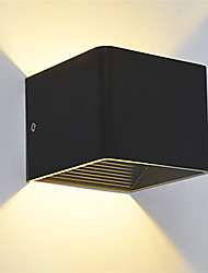 cheap -Modern 3W LED Wall Sconce Light Fixture Indoor Hallway Up Down Wall Lamp Black White Optional
