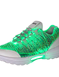 cheap -Unisex Light Up Shoes Mesh / Elastic Fabric Spring & Summer / Fall & Winter Sporty / LED / Casual Athletic Shoes Running Shoes Breathable Black / White / Light Pink / Non-slipping