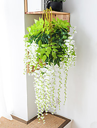 cheap -Artificial Flower 1Pc Branch Modern Contemporary Eternal Flower Wall Flower Simulation Wisteria Flower Factory Direct Bean Flower Wall Hanging Wedding Arch Decoration Flower Wedding Ceiling Decoratio