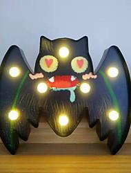 Недорогие -Хэллоуин огни на батарейках в форме летучей мыши светодиодные декоративные ночной свет для Хэллоуина маскарадный костюм карнавальные украшения настенный декор стены 1 упак.