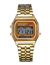 Недорогие -Муж. Нарядные часы Часы-браслет Наручные часы Цифровой Нержавеющая сталь Серебристый металл / Золотистый Повседневные часы Цифровой Кулоны - Серебряный Золотой