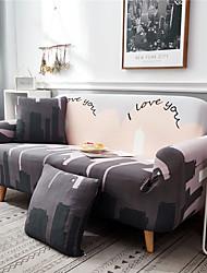 abordables -housse de canapé tombant amoureux de la ville housses en polyester imprimé